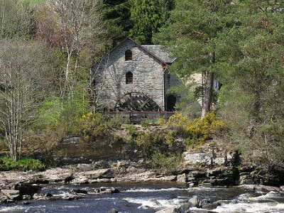 Breadalbane Folklore Centre Seen Across the Falls of Dochart