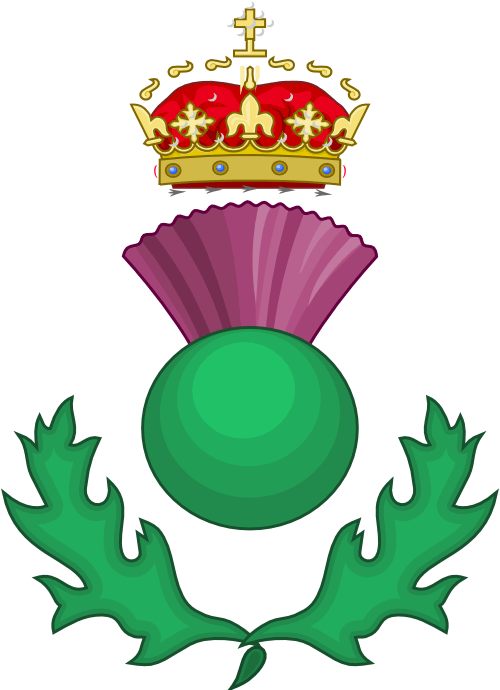 Scottish thistle as a Heraldic badge
